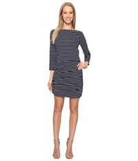 Hatley Boat Neck Ruched Dress Navy Women's Dress