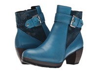 Wolky Pristina Petrol Mighty Dessin Women's Zip Boots Blue