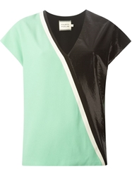 Fausto Puglisi Colour Block T Shirt Green