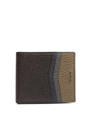 Fendi Stitch Embellished Bi Fold Leather Wallet Black Multi