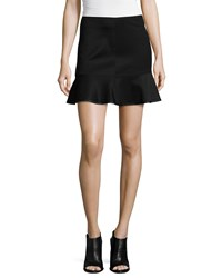 Rag And Bone Rag And Bone Brianna Ruffle Hem Mini Skirt Black Size 10
