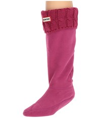 Hunter Original Tall Bs 6 Stitch Cable Boot Socks Dark Ion Pink Knee High Socks Shoes