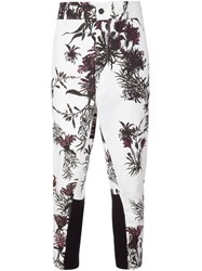Ann Demeulemeester Floral Print Pants White