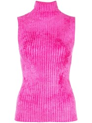 Sies Marjan Ribbed Sleeveless Top Pink