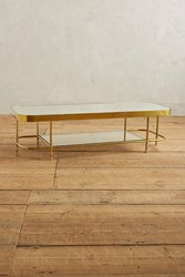 Anthropologie Brass Parabola Coffee Table Gold