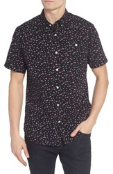 Rvca Men's Party All The Time Print Woven Shirt