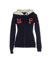 Franklin And Marshall Topwear Sweatshirts Women Dark Blue