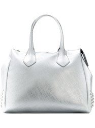 Gum Large Stud Detail Tote Bag Metallic