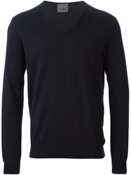 Laneus V Neck Sweater Blue