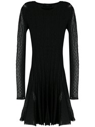 Philipp Plein Long Sleeved Knit Dress Black