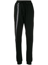 Haider Ackermann Embroidered Panel Track Pants Black