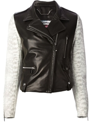 Barbara Bui Contrast Sleeve Jacket Black