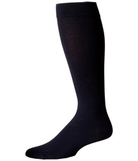 Wolford Cotton Velvet Knee Highs Admiral Men's Knee High Socks Shoes Navy