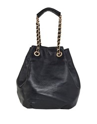 Foley Corinna Daisy Leather Patchwork Tote Black