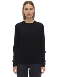 Falke Extrafine Wool Knit Sweater Navy