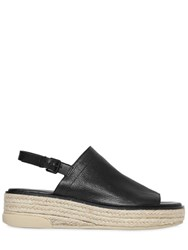 Dkny 50Mm Sally Leather And Rope Sandals