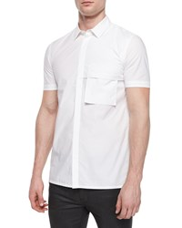 Helmut Lang Short Sleeve Woven Shirt White