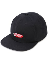Off White Embroidered Logo Cap Black