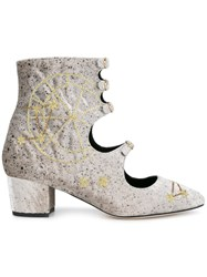 Liudmila Little Nell Embroidered Boots Grey