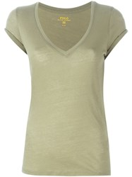 Polo Ralph Lauren V Neck T Shirt Green