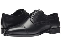 The Kooples Smooth Leather Cap Toe Oxford Black Men's Lace Up Cap Toe Shoes