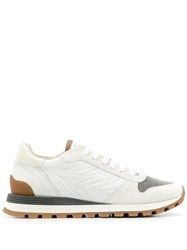 Brunello Cucinelli Bead Embellished Sneakers White