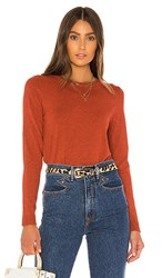 525 America Crew Neck Sweater In Rust. Red Clay Melange