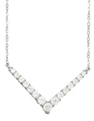 Lord And Taylor Diamond 14K White Gold Geometric Necklace