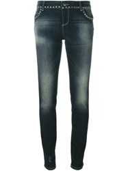Twin Set Studded Skinny Jeans Blue