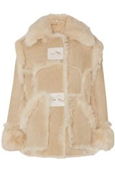 Acne Studios Lavinia Shearling Jacket Neutral