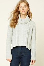 Forever 21 Cable Knit Cowl Neck Sweater