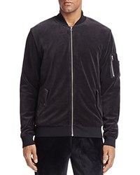 The Narrows Velour Bomber Jacket 100 Exclusive Black