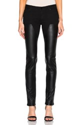 Givenchy Leather Front Jeans In Black