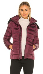 The North Face Gotham Jacket Ii With Faux Fur Trim In Wine. Deep Garnet Red