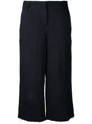 Thom Krom Cropped Trousers Black