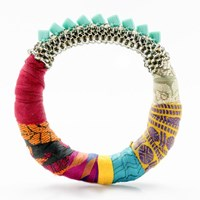 The Studioelle Colorpatch Squarelette Bangle Turquoise
