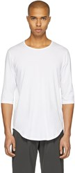 Attachment White Three Quarter Sleeve T Shirt