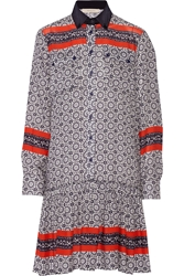 Preen Line Assia Printed Crepe Shirt Dress