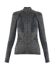 Lndr Long Sleeved Panelled Stretch Jacket Grey