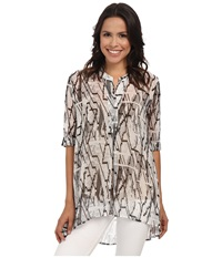 Nic Zoe Zig Zag Print Top Multi Women's Blouse