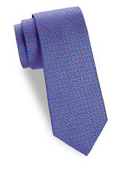Saks Fifth Avenue Turtle Shell Silk Tie Red