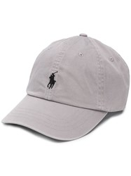 Ralph Lauren Logo Embroidered Baseball Cap Grey