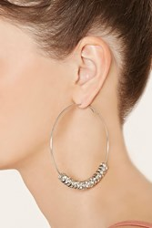 Forever 21 Rhinestone Hoop Earrings
