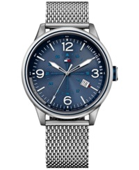 Tommy Hilfiger Men's Stainless Steel Mesh Bracelet Watch 46Mm 1791106