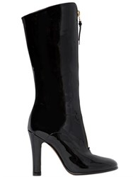 Valentino 100Mm Rebel Patent Leather Boots
