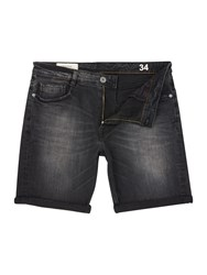 Criminal Grey Denim Shorts Grey Denim