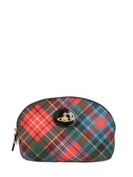 Vivienne Westwood Derby Plaid Nylon Cosmetic Bag