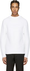 Kenzo White Ribbed Sweater