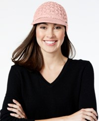 Calvin Klein Honeycomb Cable Cabbie Hat Blush