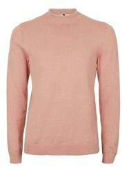 Topman Pink Marl Mini Roll Neck Jumper